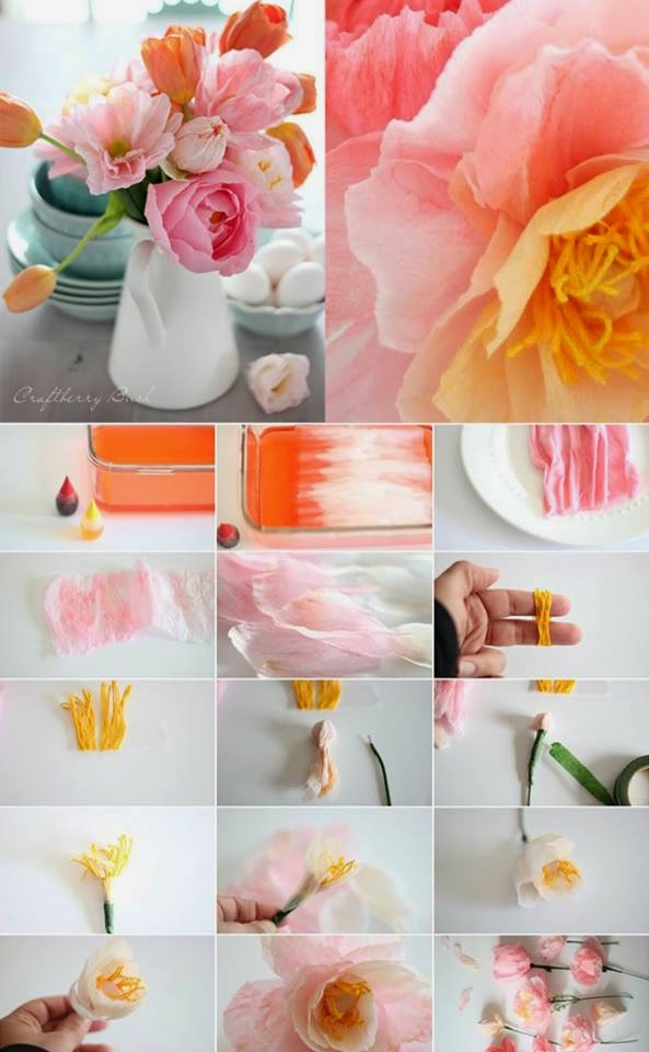 Flores Hechas Con Servilletas De Papel