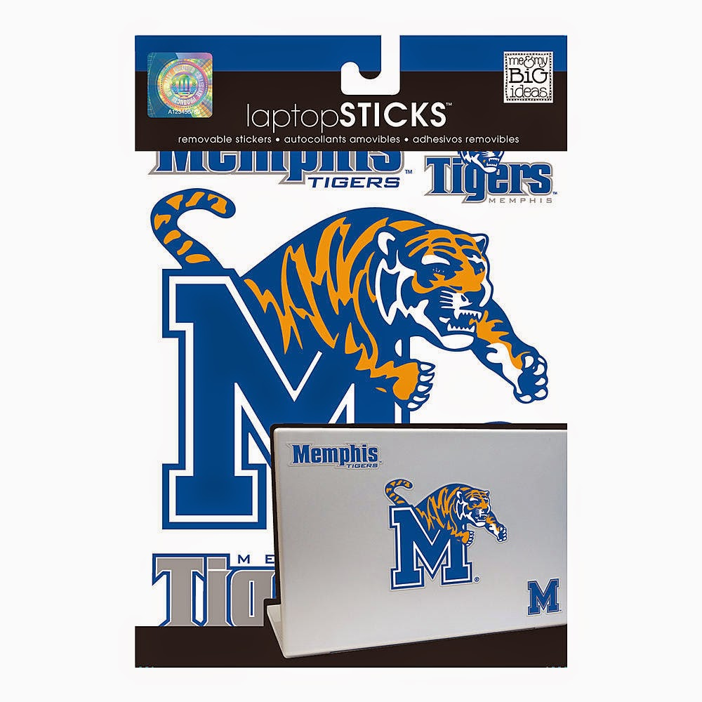 Memphis Tigers NCAA Laptop Stickers