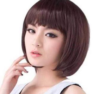 model rambut pendek wanita asia blunt brief bob