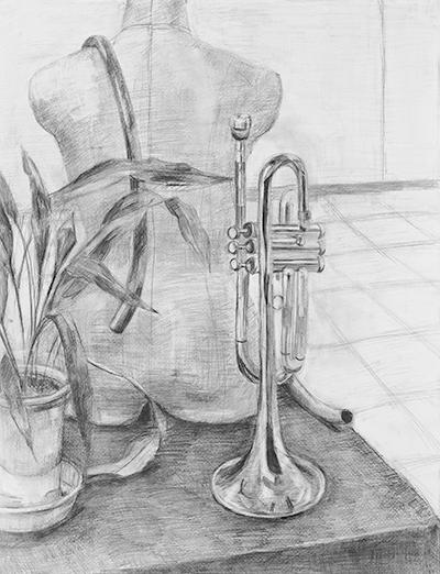 美術クラブ 横浜美術学院の中学生向け教室 たっぷりとした空間を描く「静物デッサン」12