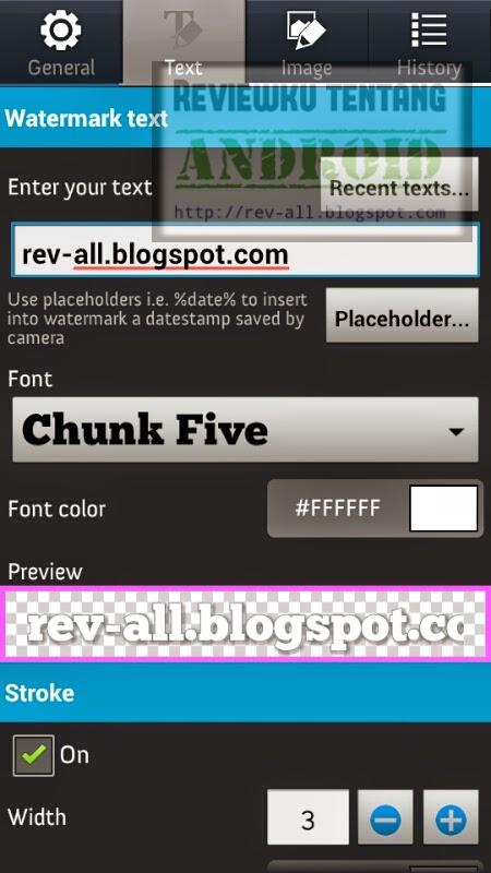Pengaturan huruf aplikasi Add Watermark Free - menambahkan watermark pada foto atau gambar dengan mudah di android (rev-all.blogspot.com)