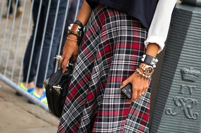 A mix of plaid
