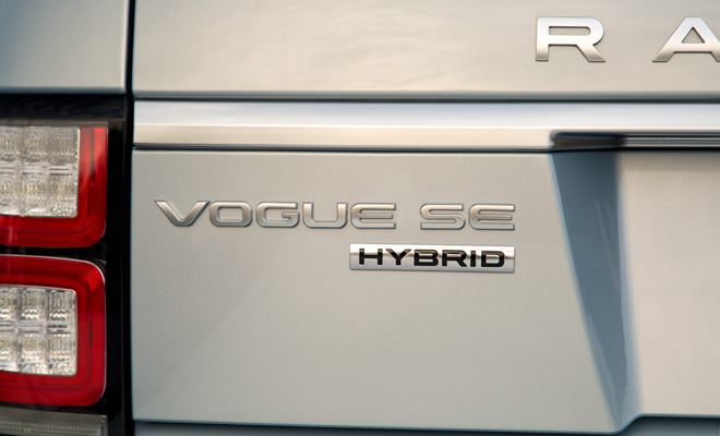 Range Rover Hybrid boot badge