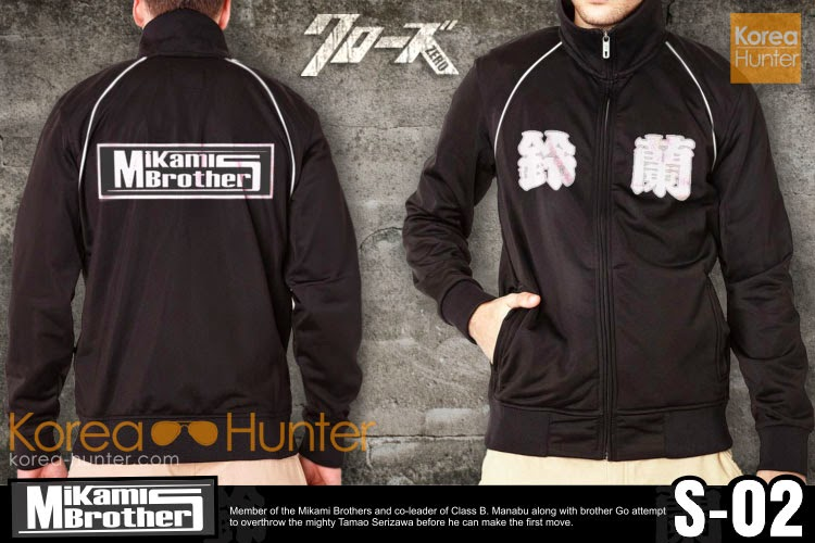 KOREA-HUNTER.com jual murah Jaket Crows Zero Mikami Brother | kaos crows zero tfoa | kemeja national geographic | tas denim korean style blazer