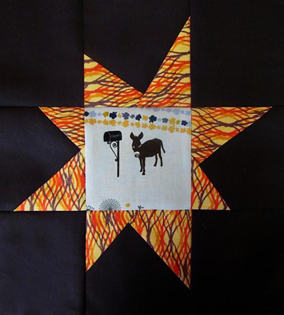 wonky star quilt block