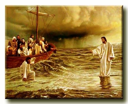 Kép: Jézus és Péter vízen járása