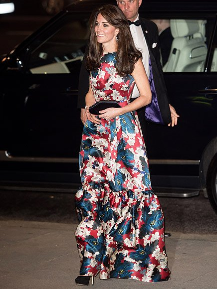 The Duchess Of Cambridge's ERDEM Alouette Printed Silk-gazar Gown