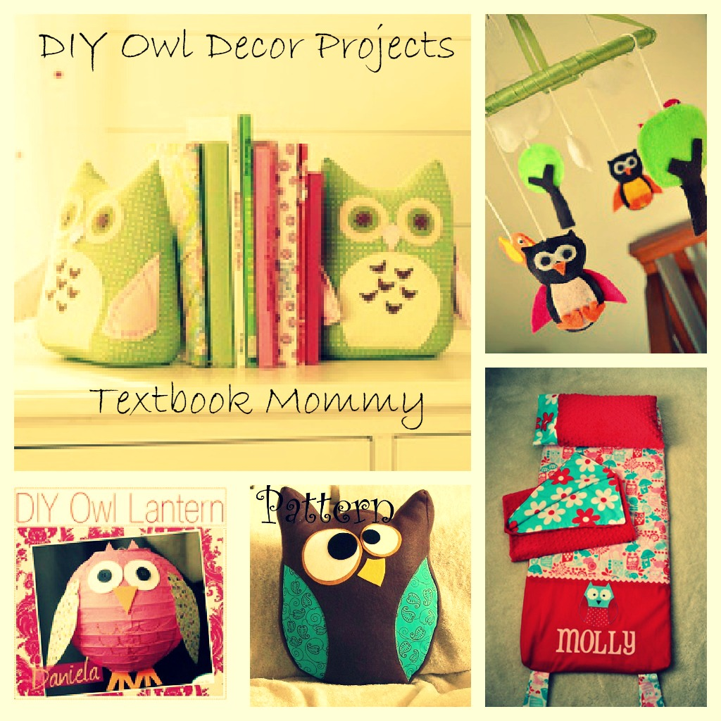 Textbook Mommy DIY Owl Decor Projects