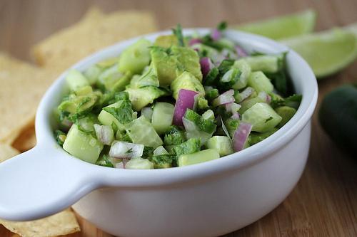 Aan Jeanne`s Keukentafel: Komkommer Salsa