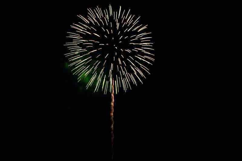 fireworks, blue