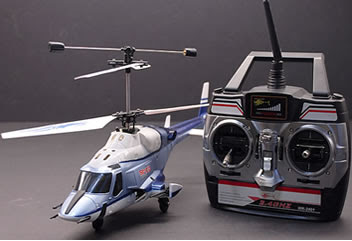Blue Airwolf RC Helicopter Images
