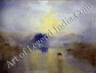 "The Great Artist Joseph Turner Painting ""Norham Castle Sunrise"" 1835-40 35¾"" X 48"" Tate Gallery, London"