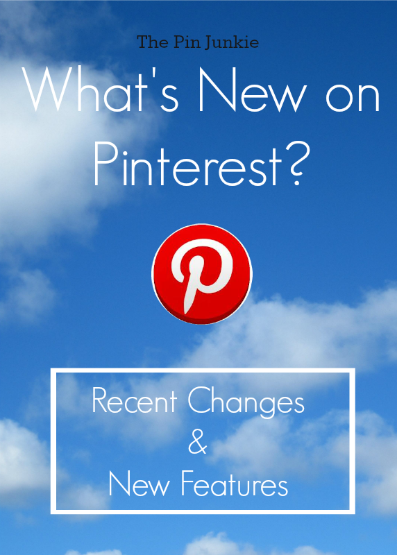 whats new on pinterest