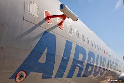 Sensor AVOID montado en el Airbus A340