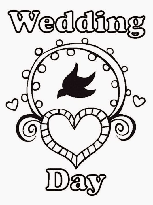 Free Printable Wedding Coloring Book Pages