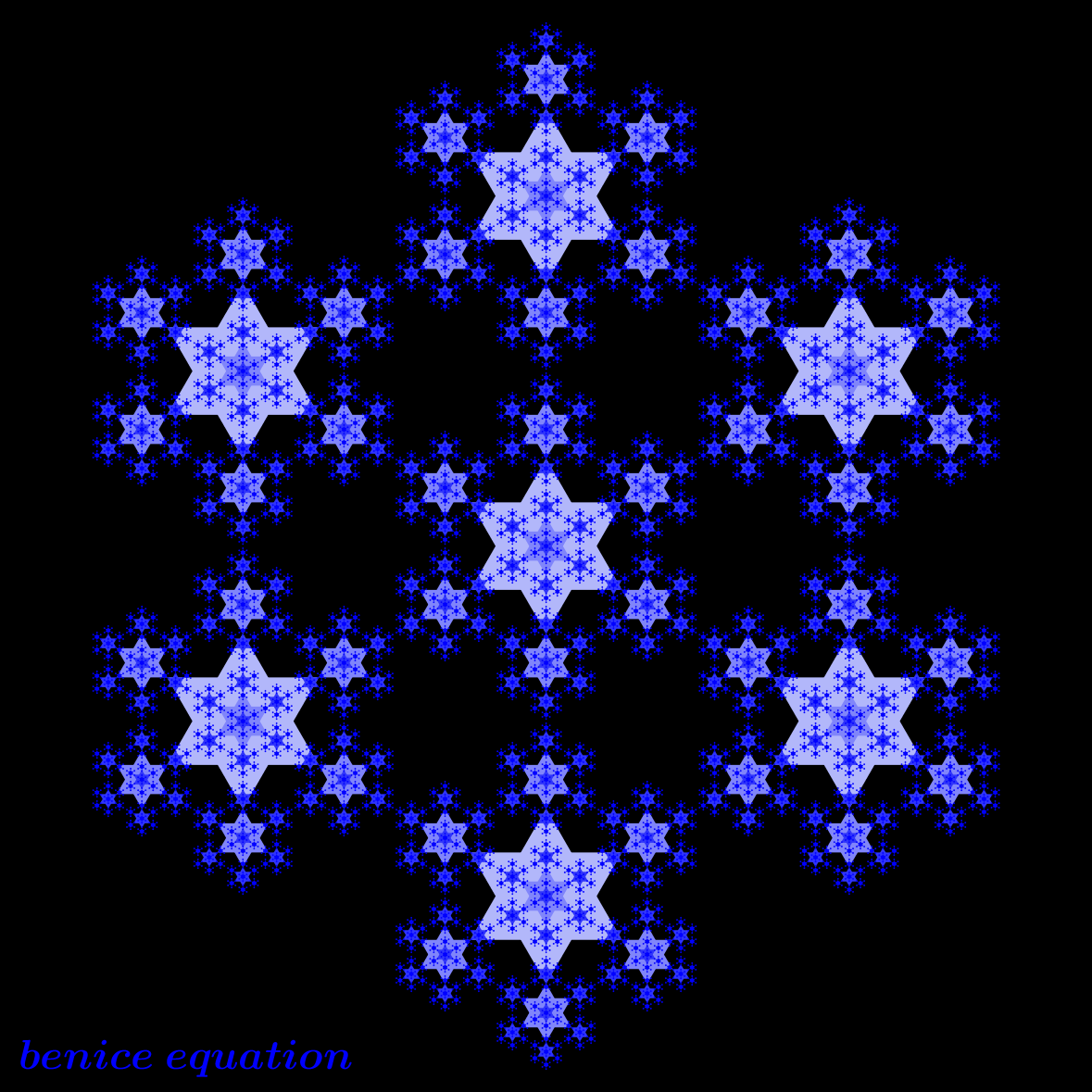 Fun math art (pictures) - benice equation: Fractal Star ...