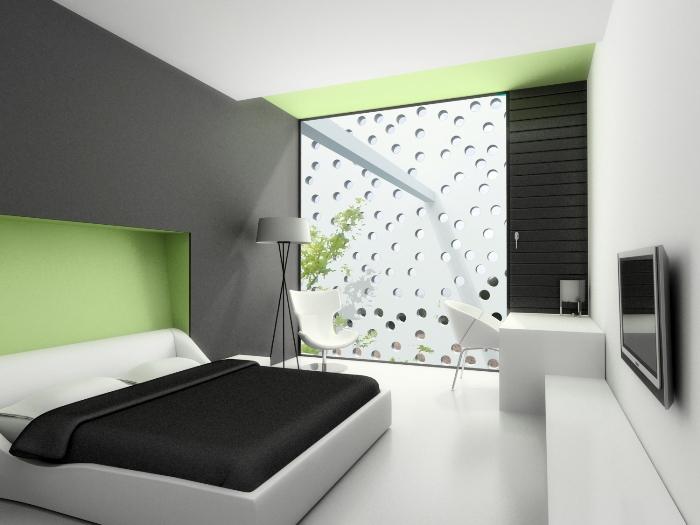 Hogares frescos 14 dormitorios minimalistas y frescos for Casa minimalista que es