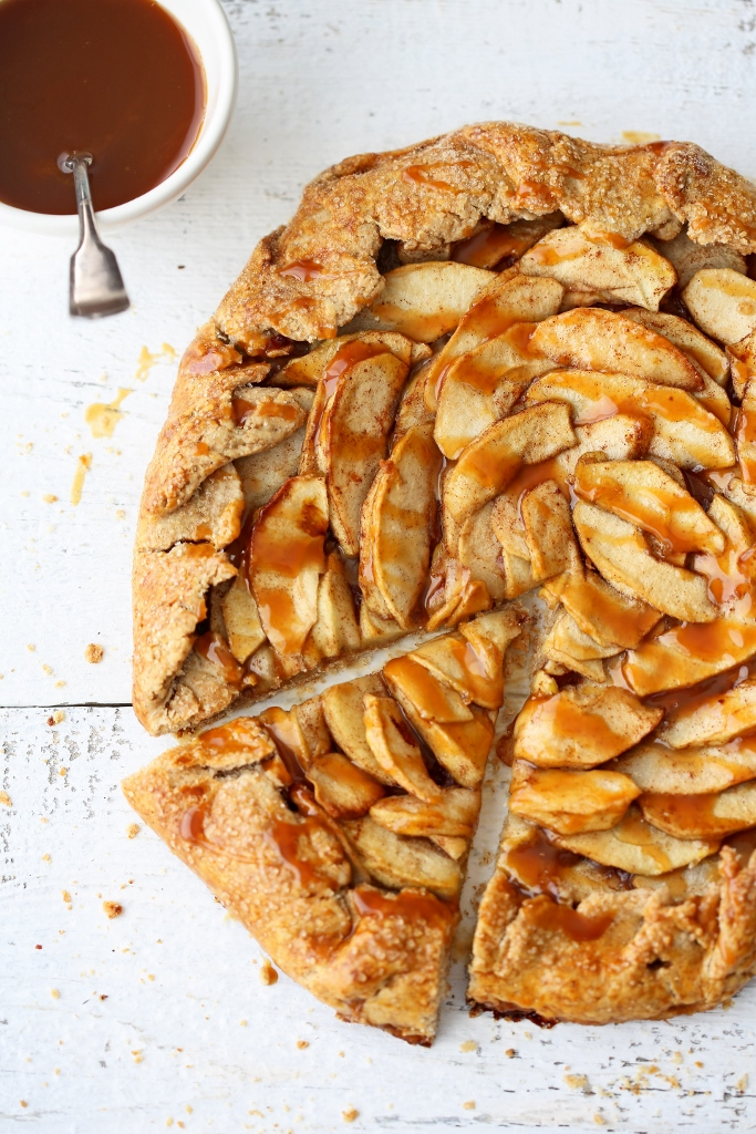 Apple Galette With Salted Caramel Recipe — Dishmaps