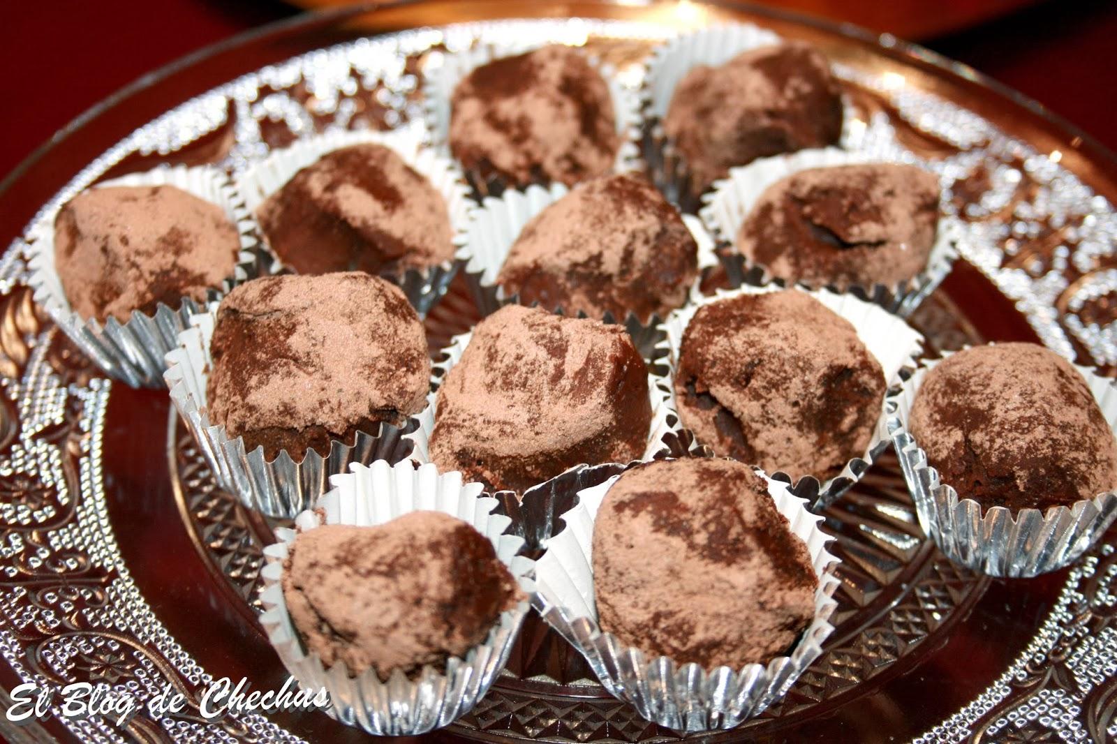 Trufas con naranja confitada, El Blog de Chechus, Chechus Cupcakes, postres