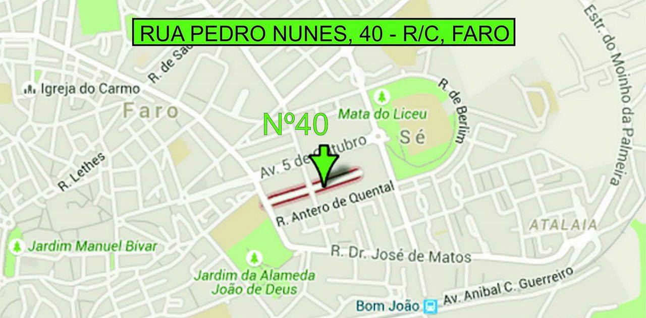 MAPA DO LOCAL DA CONSULTA EM FARO