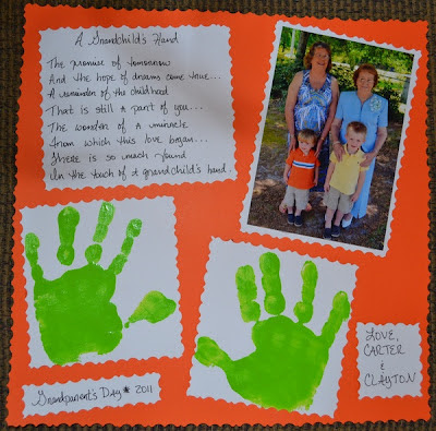 A Grandchild's Hand Poem for Grandma
