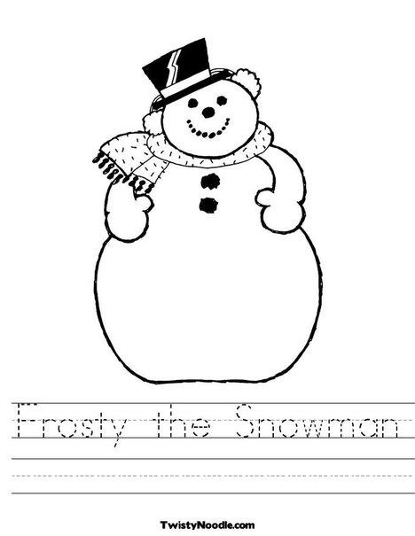 Snowman Writing Paper Frosty handwriting worksheet