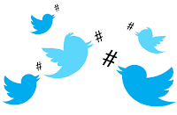 Twitter chats use hashtags