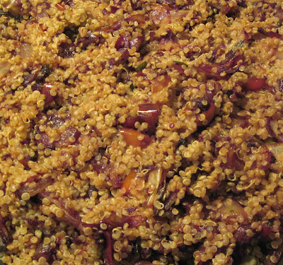 quinoa with caramelized vegetables