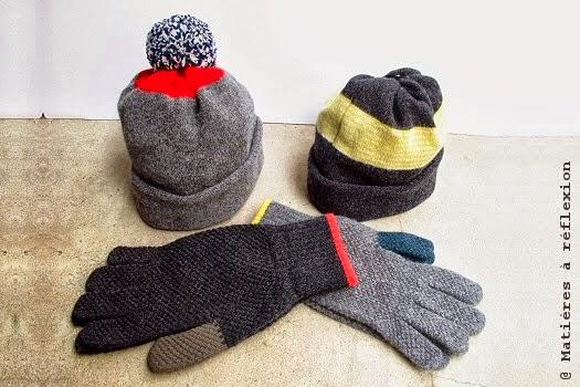 Bonnets et gants Jo Gordon en Laine d'écosse