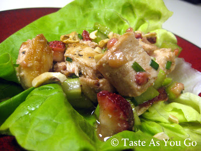 Strawberry Chicken Salad Lettuce Wrap - Photo by Michelle Judd of Taste As You Go