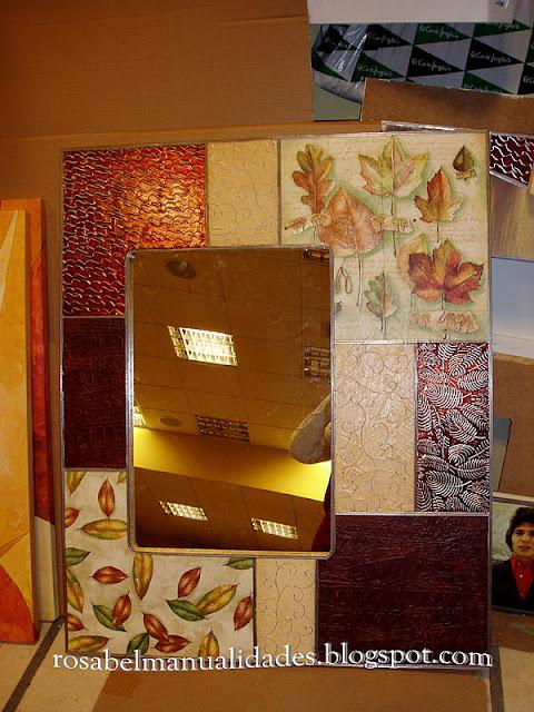 Rosabel manualidades marcos para espejos - Espejos para manualidades ...