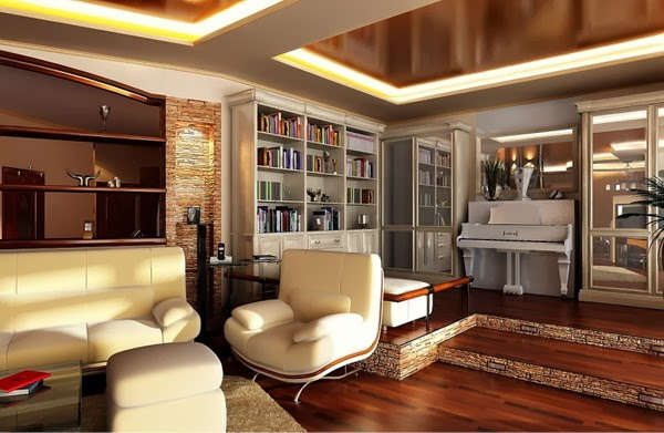 10 unique false ceiling modern living room interior designs for Unique living room designs