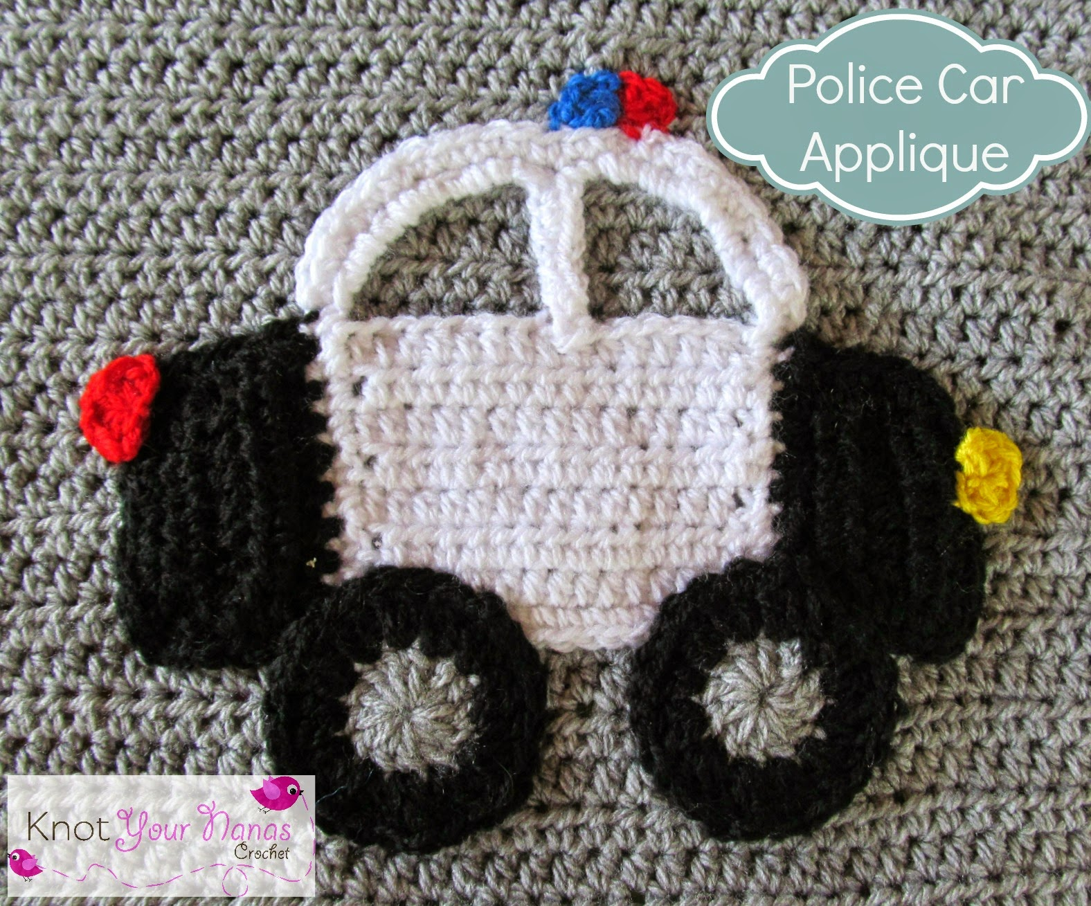 Crochet-Police-Car-Applique