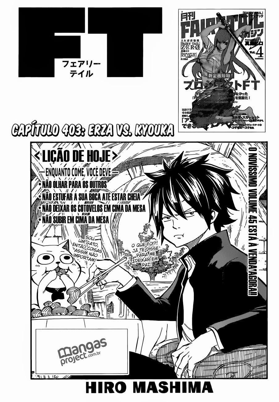 Fairy Tail 403 Mangá Português leitura online