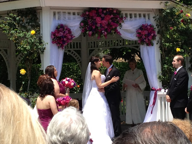 Disneyland Wedding - The kiss!