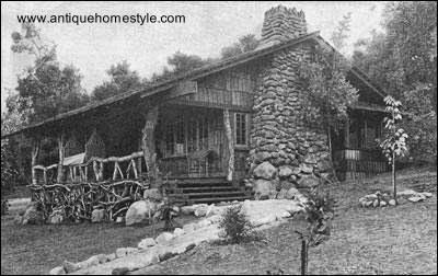 Foto en blanco y negro de casa rústica americana 1912
