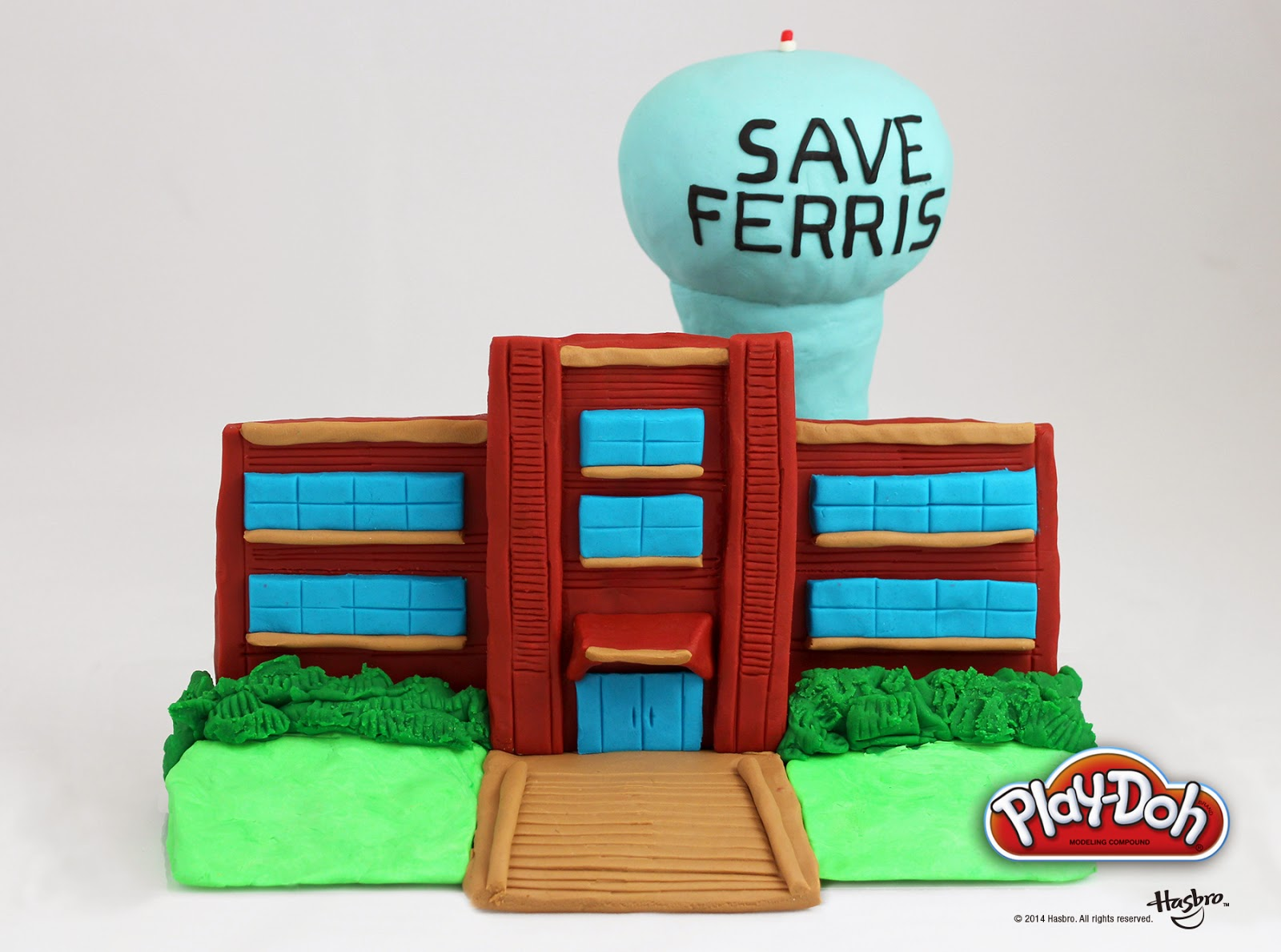 #PlayDohDay back to school creations; Ferris Bueller's Day Off