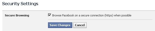 Secure Browsing on Facebook
