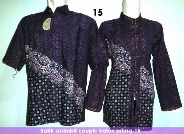 Baju Batik Sarimbit Couple Kode 15