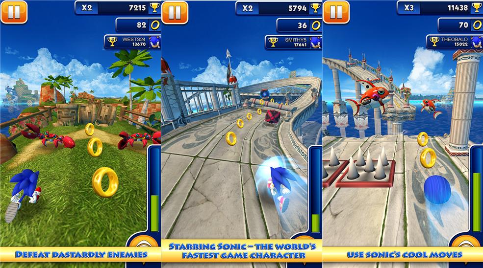 Download  Game Sonic Dash untuk Windows Phone