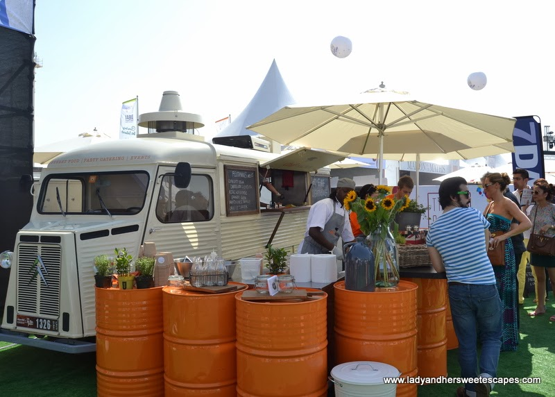 Ghaf Kitchen's vintage catering van at the Dubai Food Carnival