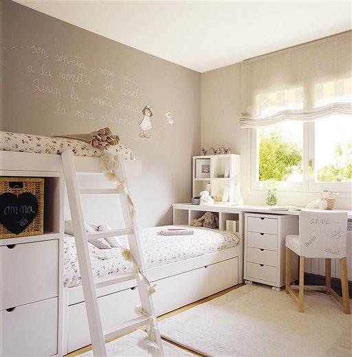 Casa tr s chic quartos para irm os - Dormitorios infantiles malaga ...