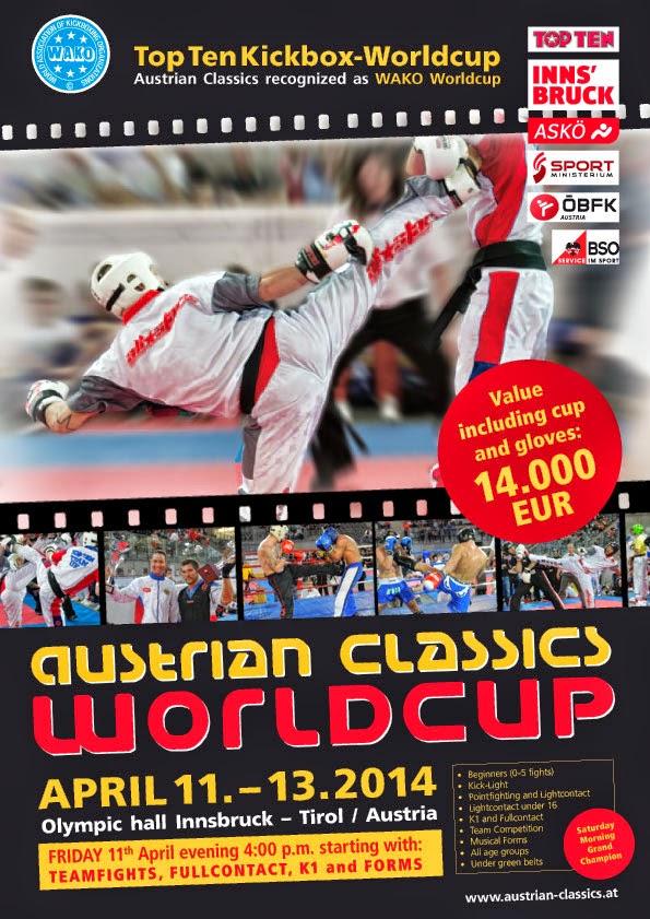 Puchar Świata Innsbruck 2014 r., kickboxing, full contact, Karolina Gleisner, Radosław Laskowski, wyjazdy, sport, treningi,