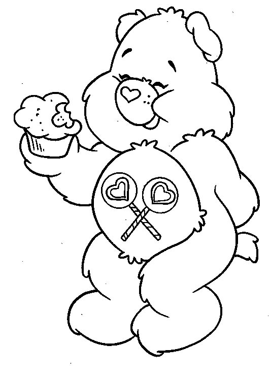 Cartoon coloring for kids care bears coloring pages for Care bears printable coloring pages