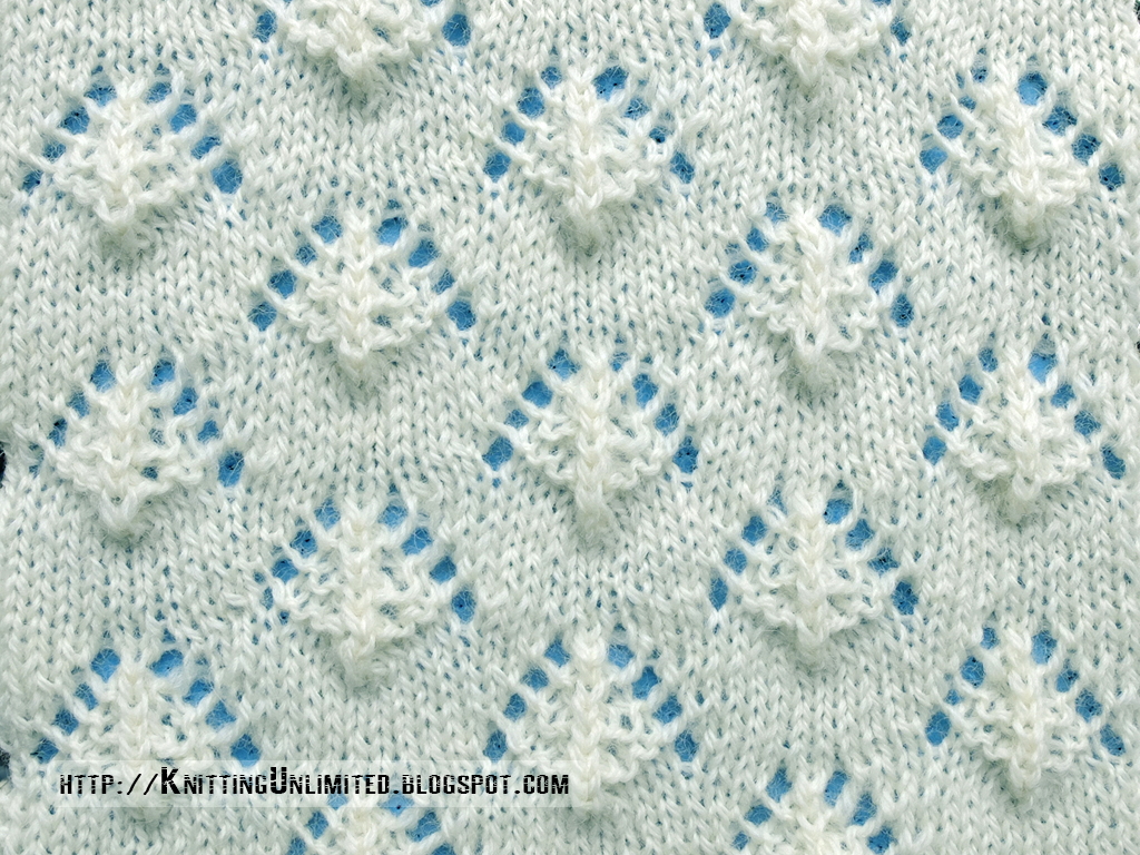 Knitting Stitches Sl1k : Lace Stitches for Spring 2016 - Pattern 9/10 - Knitting Unlimited