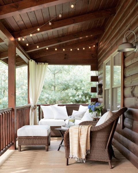 Ideas para decorar la terraza el porche o patio oltenia - Decorar un porche ...