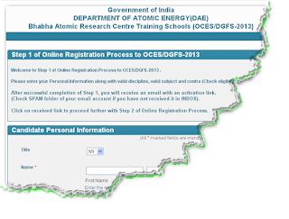 BARC OCES_DGFS 2013 Online Form