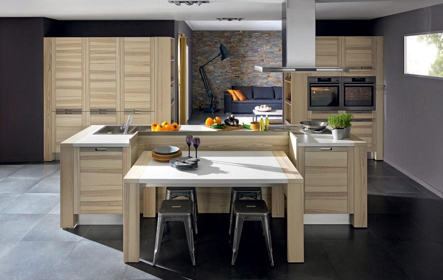 Cuisine moderne en bois de chez Arthur Bonnet, conception par Marc Moreau