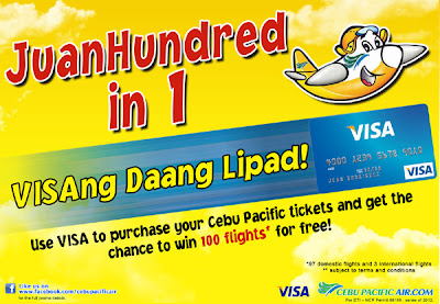 Cebu Pacific and VISA Juan Hundred Ways to Travel