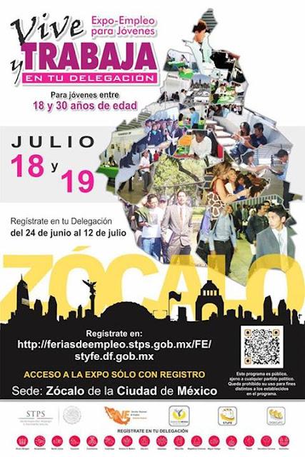 Expo Empleo para jóvenes 2013 en el Zócalo de la Ciudad de México
